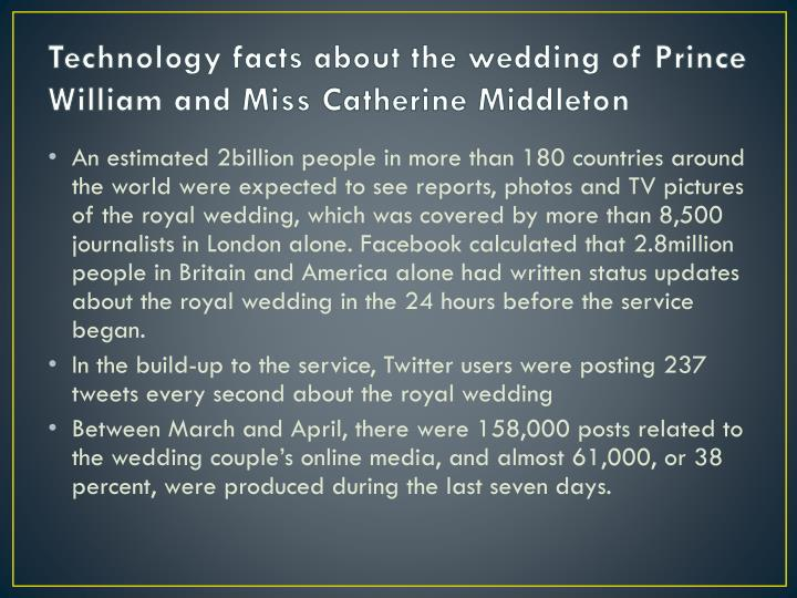 Technology facts about the wedding of Prince