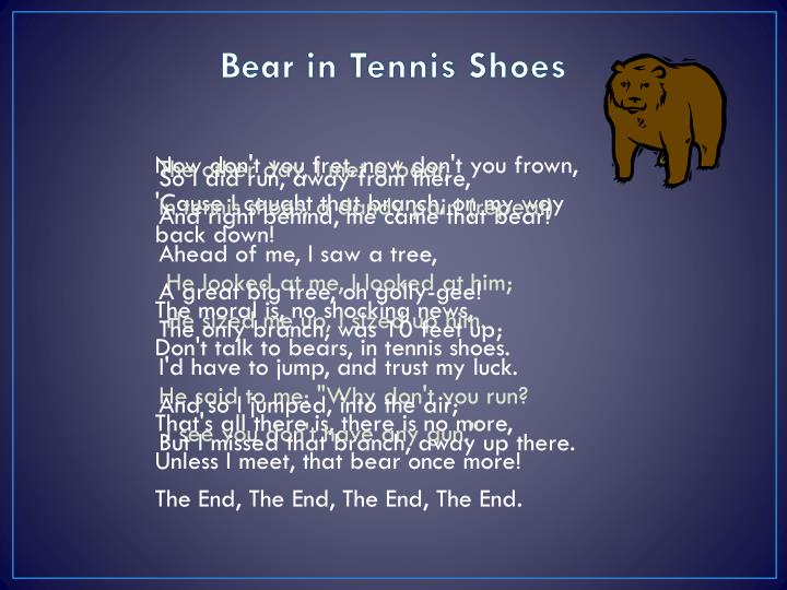 Bear in Tennis Shoes
