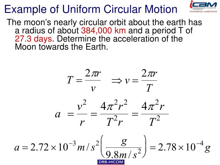 Example of Uniform Circular Motion