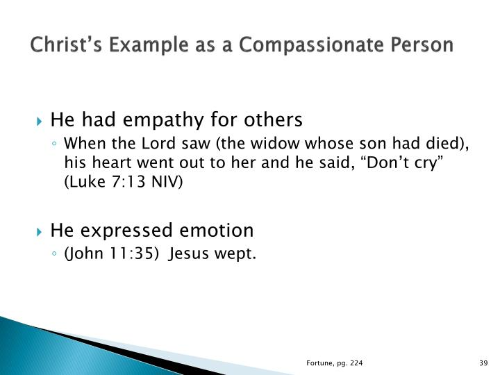 Christ's Example as a Compassionate Person