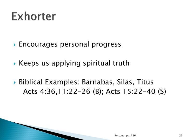 Exhorter