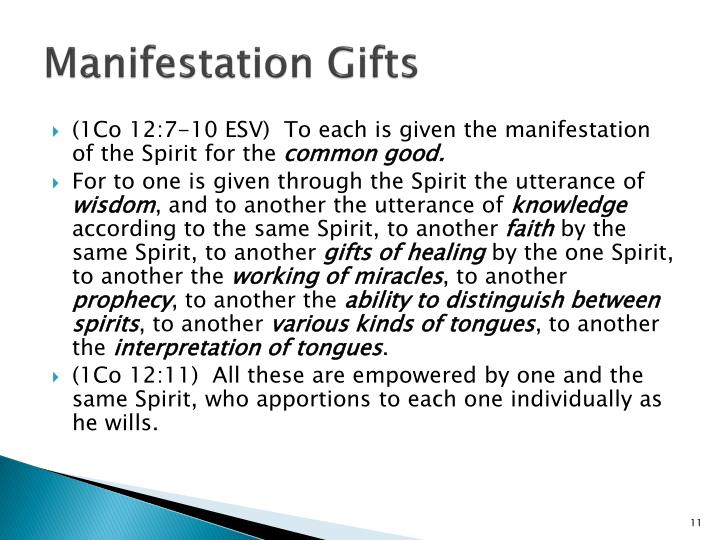 Manifestation Gifts
