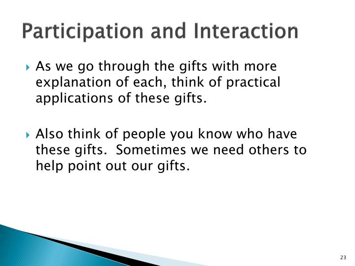 Participation and Interaction