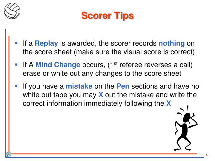 Scorer Tips