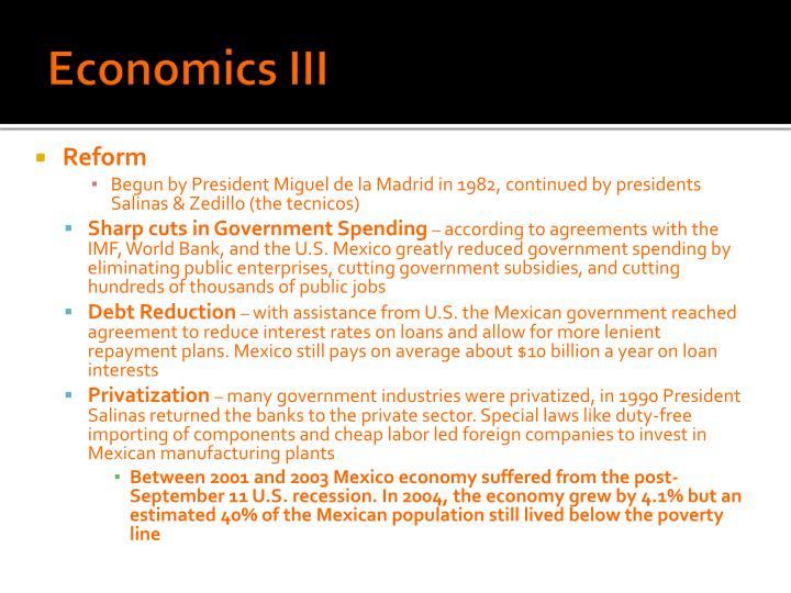 Economics III