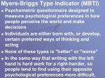 myers briggs type indicator mbti