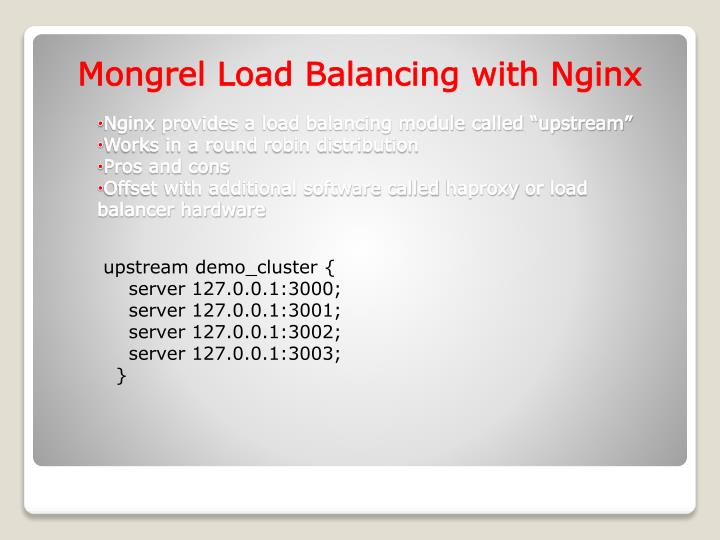 Mongrel Load Balancing with