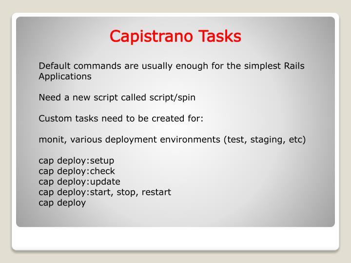 Capistrano Tasks