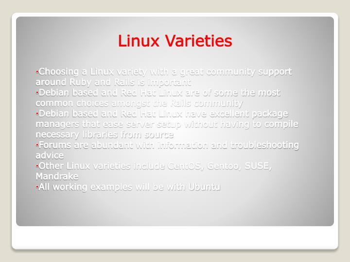 Linux Varieties