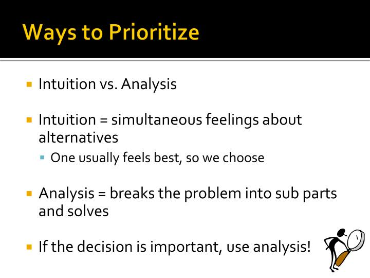 Ways to Prioritize