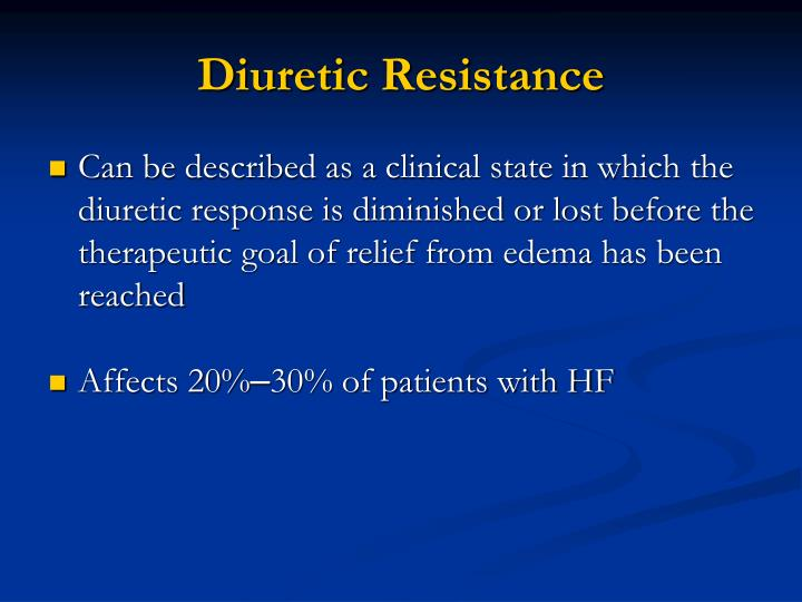 Diuretic Resistance