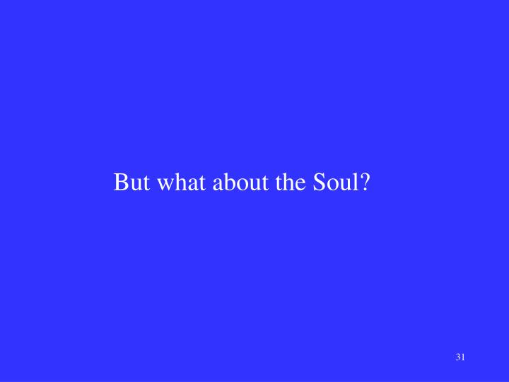 But what about the Soul?