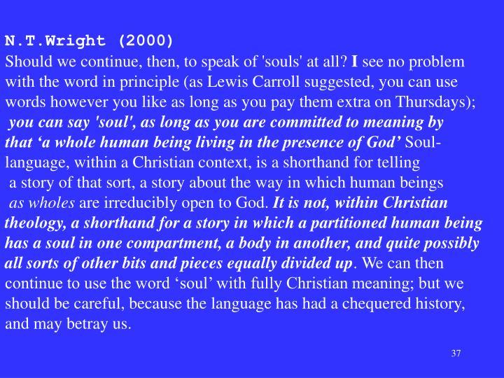 N.T.Wright (2000)