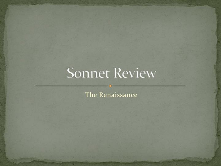 sonnet review