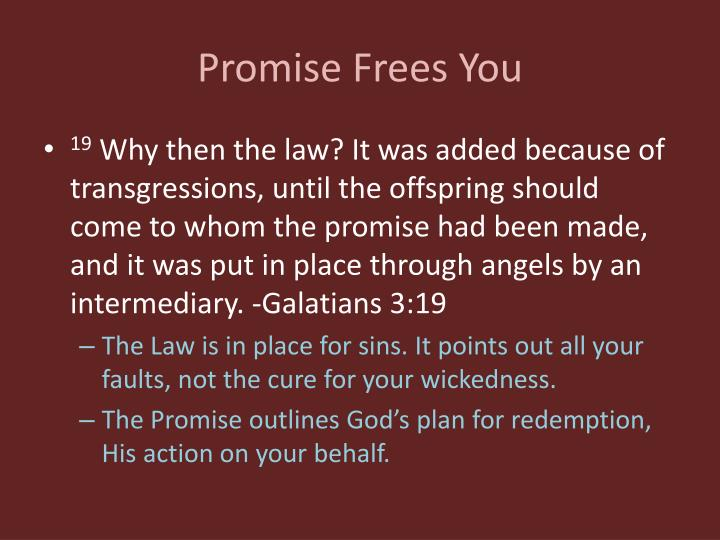 Promise Frees You