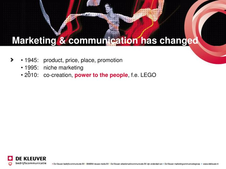 Marketing & communication has changed