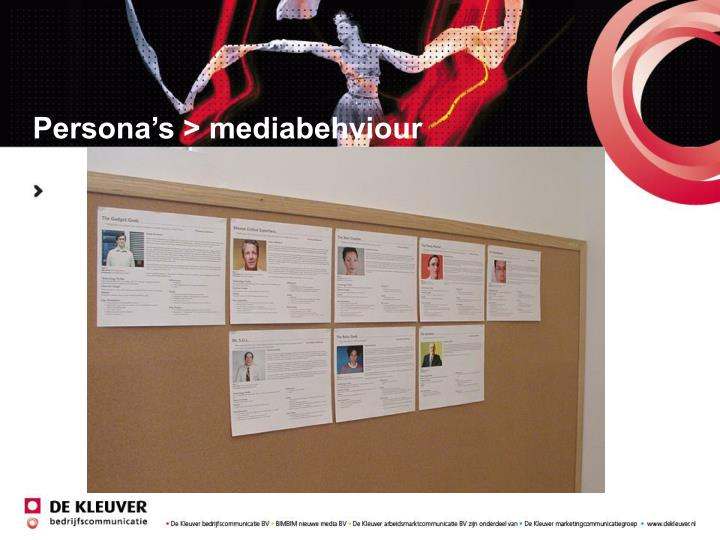 Persona's > mediabehviour