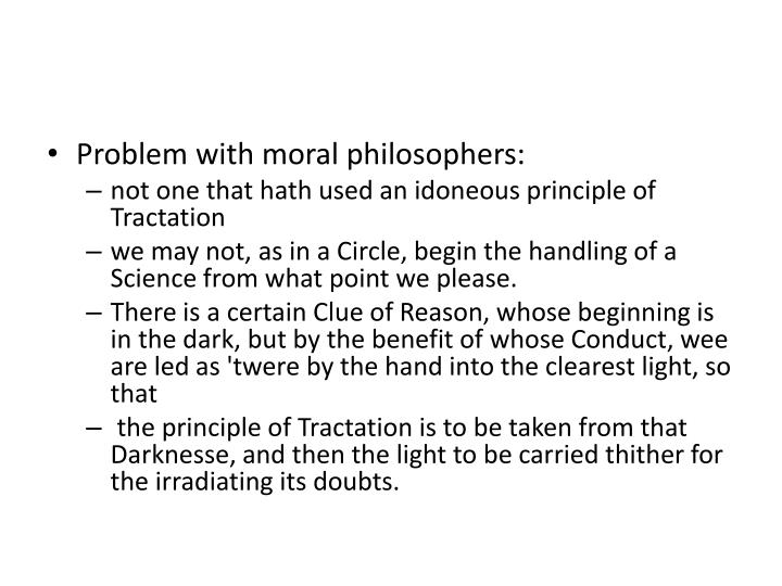 Problem with moral philosophers: