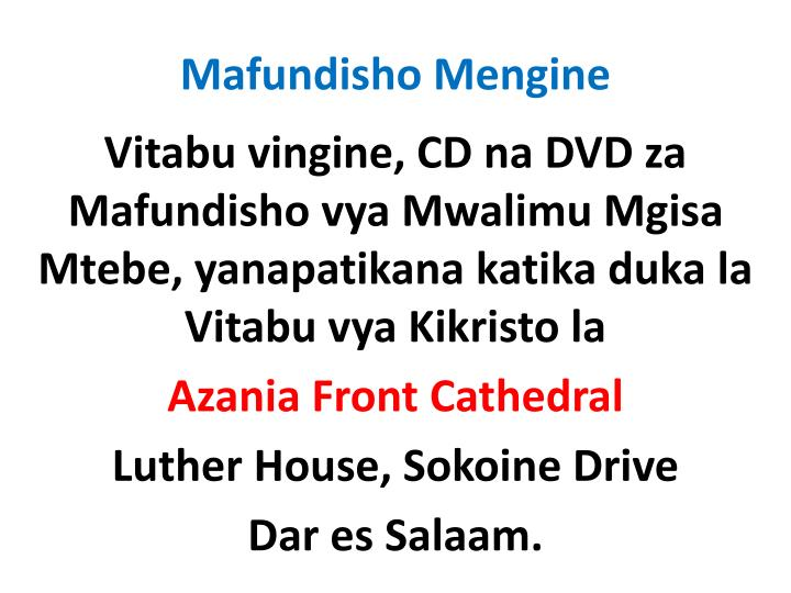 Mafundisho Mengine