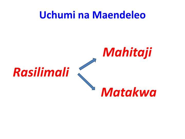 Uchumi na Maendeleo