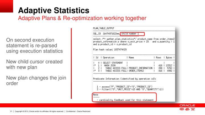 Adaptive Statistics