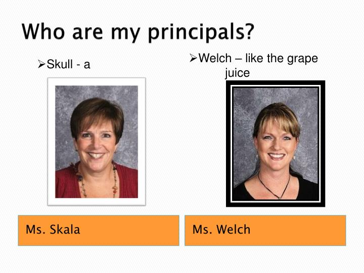 Who are my principals