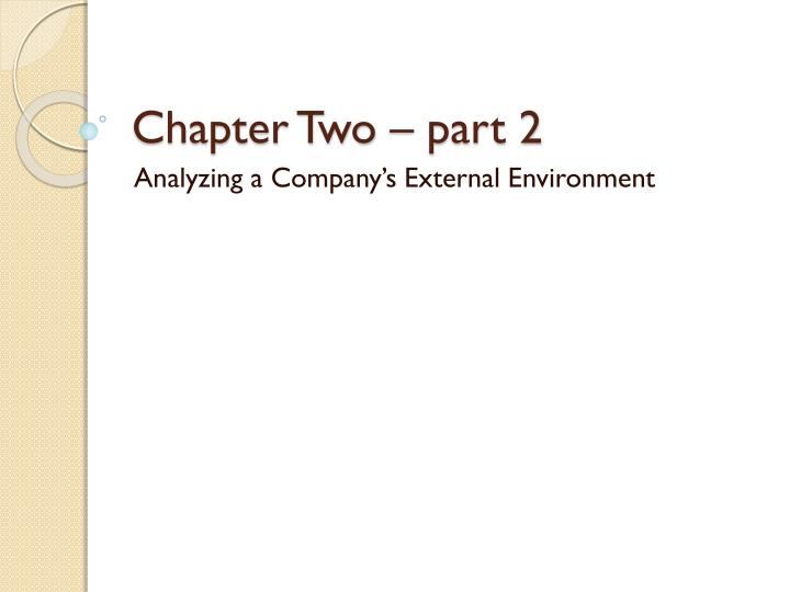 Chapter two part 2