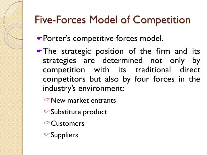 Five forces model of competition1