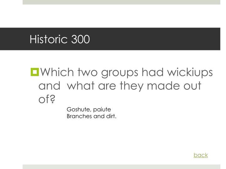 Historic 300
