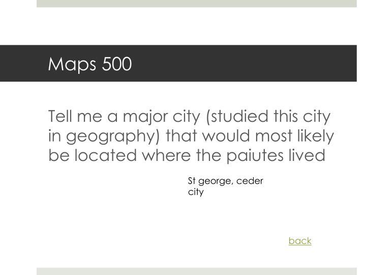 Maps 500