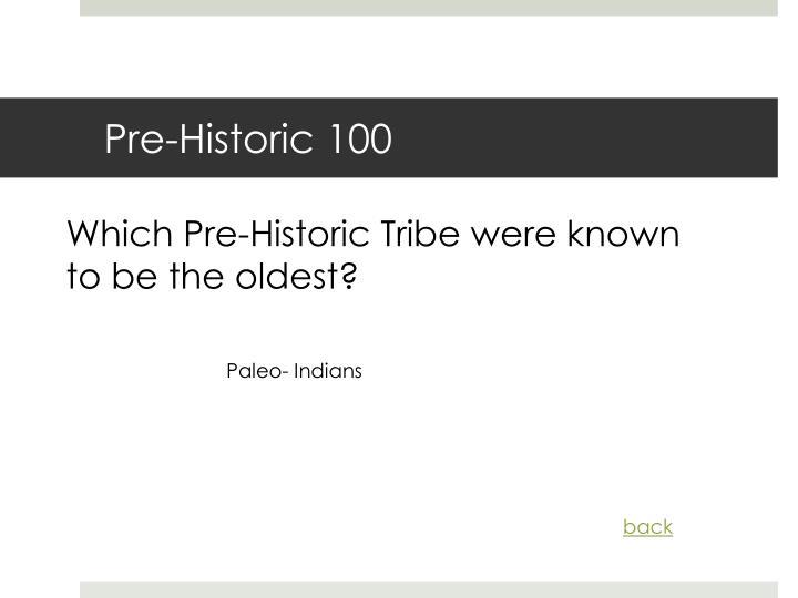 Pre-Historic 100