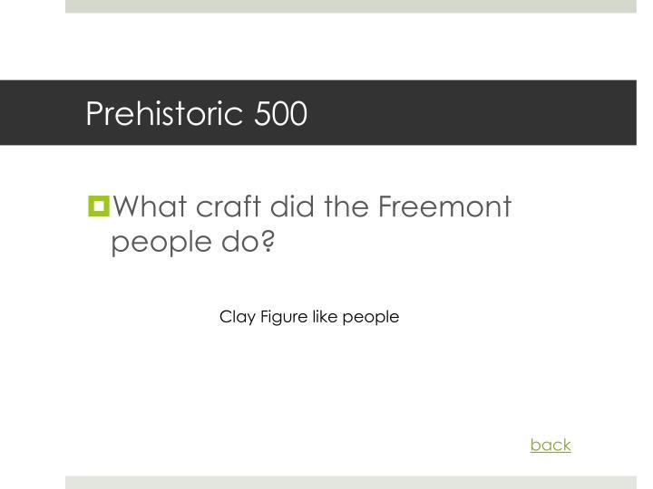Prehistoric 500