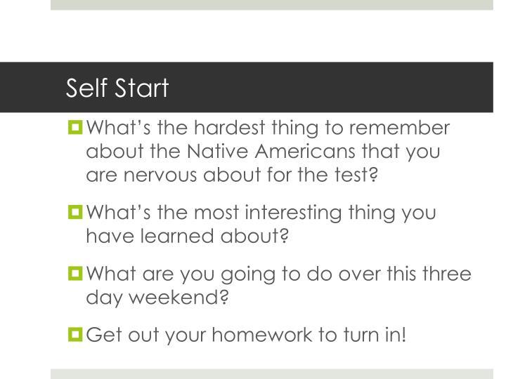 Self Start