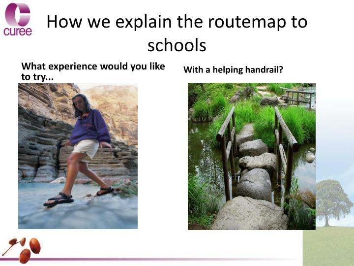How we explain the routemap to schools