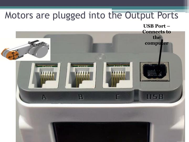 USB Port –Connects to the computer