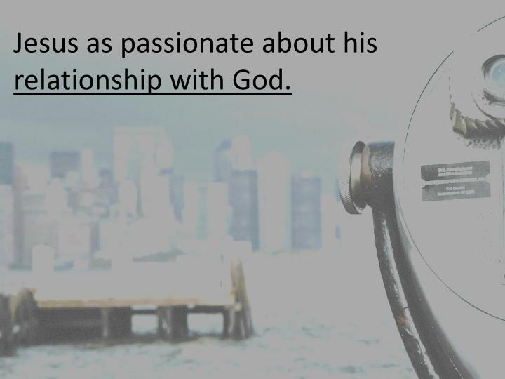Jesus as passionate about his