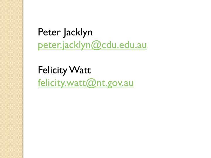 Peter Jacklyn