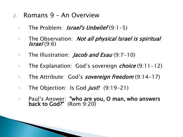 Romans 9 – An Overview
