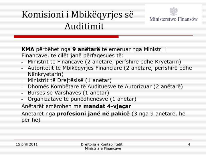Komisioni i Mbikëqyrjes së Auditimit