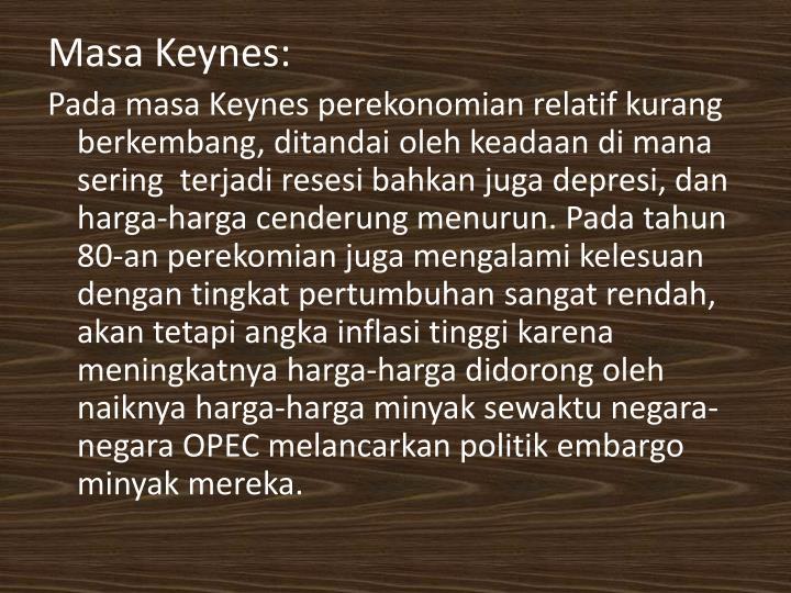Masa Keynes: