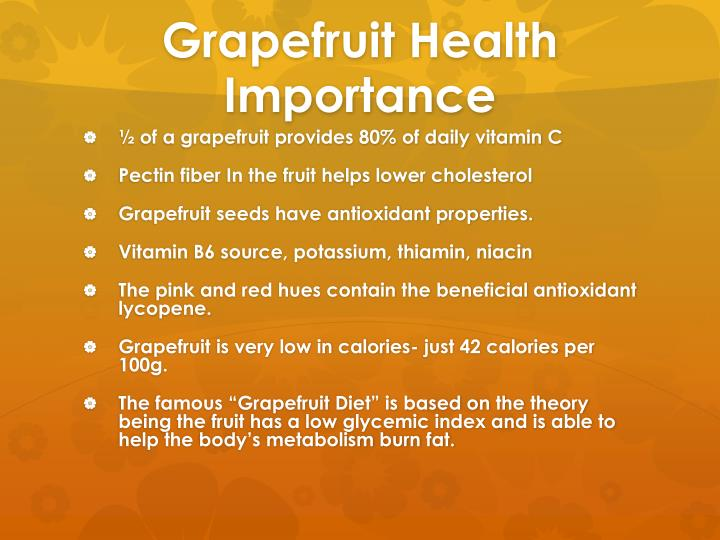 Grapefruit Health Importance