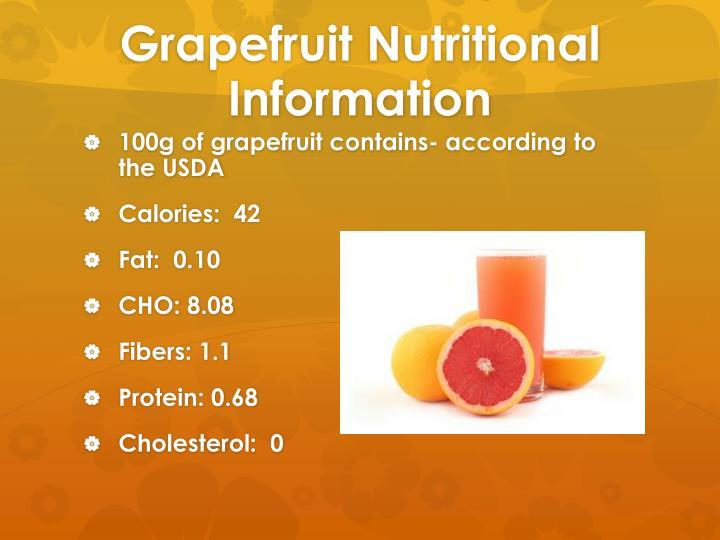 Grapefruit Nutritional Information