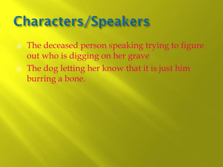 Characters/Speakers