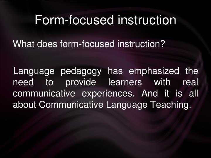 Form-focused instruction