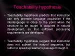 teachability hypothesis