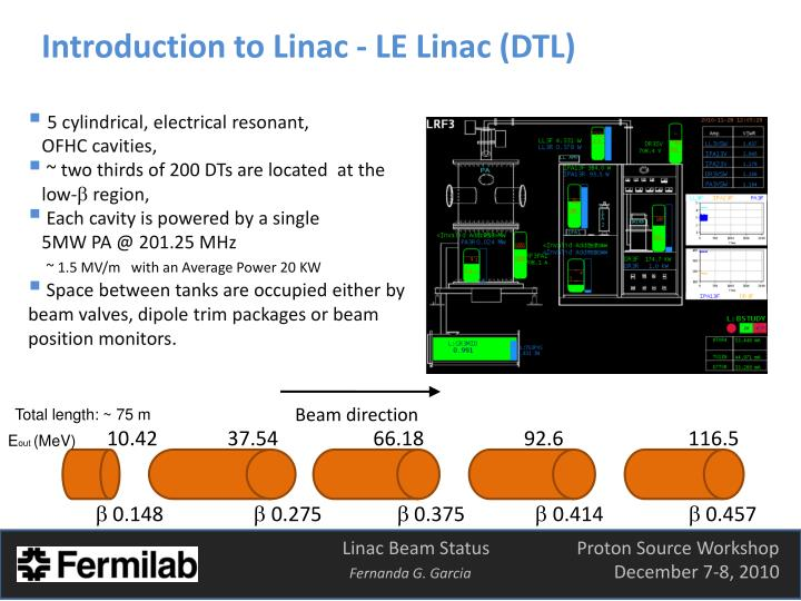 Introduction to Linac - LE Linac (DTL)