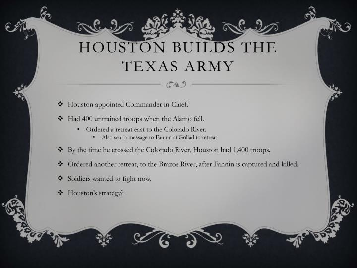 Houston Builds the Texas Army