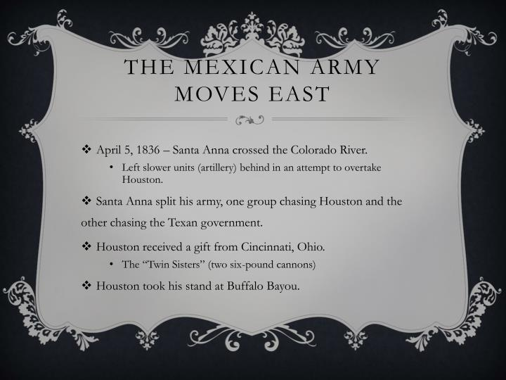 The Mexican Army Moves East