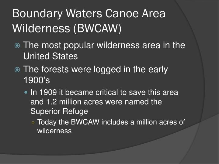 Boundary Waters Canoe Area Wilderness (BWCAW)