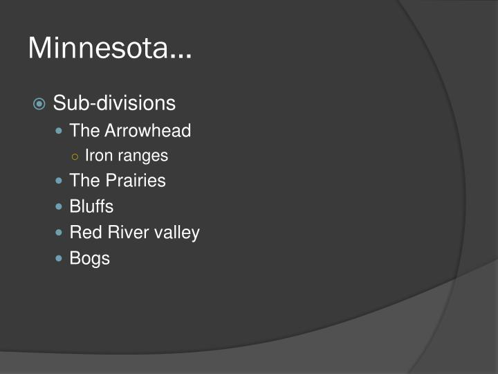 Minnesota…